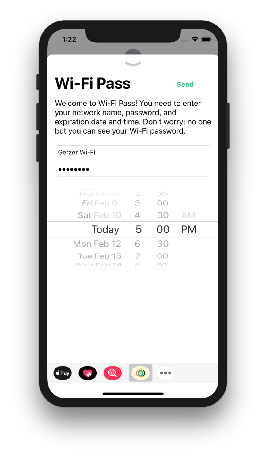 Screenshot 1 of Wi-Fi Pass for iMessage on iPhone X