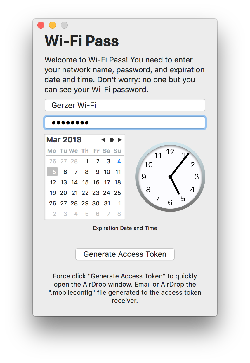 Screenshot 1 of Wi-Fi Pass for macOS on Mac